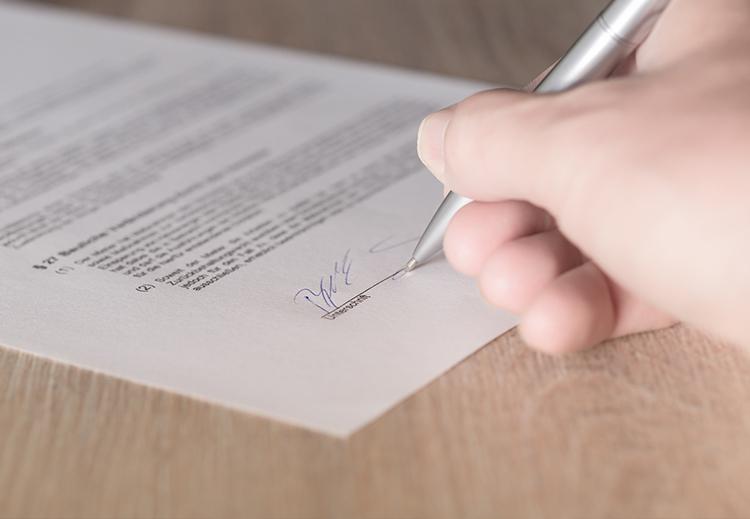 firma de apariencia manuscrita